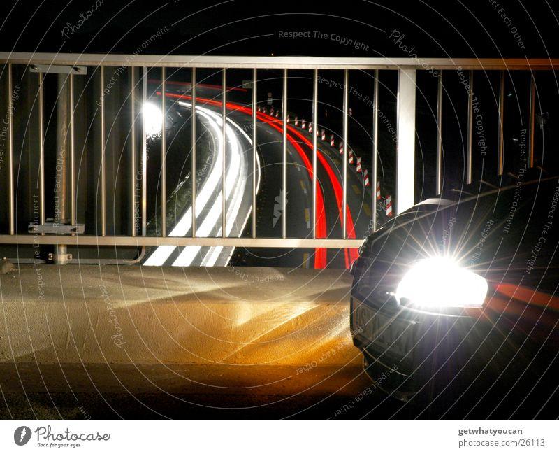 White Red Dark Car Bright Transport Speed Corner Highway Handrail Snout Front side Spoon bait