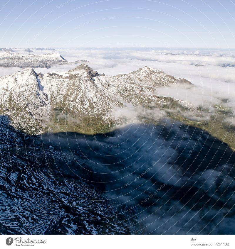 Sky Nature Summer Clouds Calm Far-off places Landscape Snow Mountain Life Autumn Air Horizon Earth Fog Wild