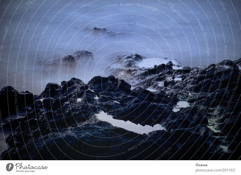 Water Ocean Dark Coast Lake Waves Rock Fog Island Surrealism Haze Steep Formation