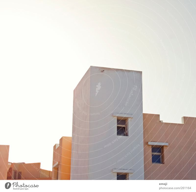 City House (Residential Structure) Window Wall (building) Wall (barrier) Bright Facade Gloomy Roof Simple Detached house Sterile