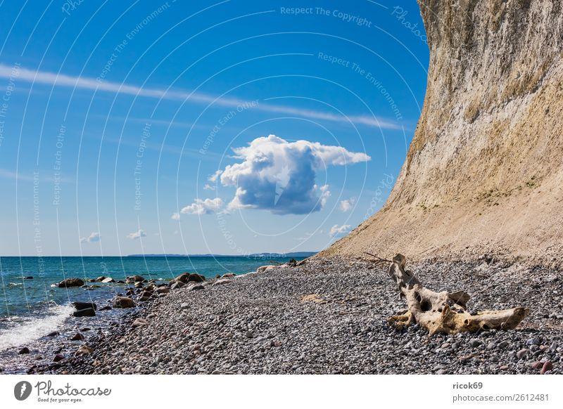 Nature Vacation & Travel Blue Landscape Ocean Clouds Coast Tourism Stone Rock Idyll Romance Tourist Attraction Baltic Sea Rügen National Park