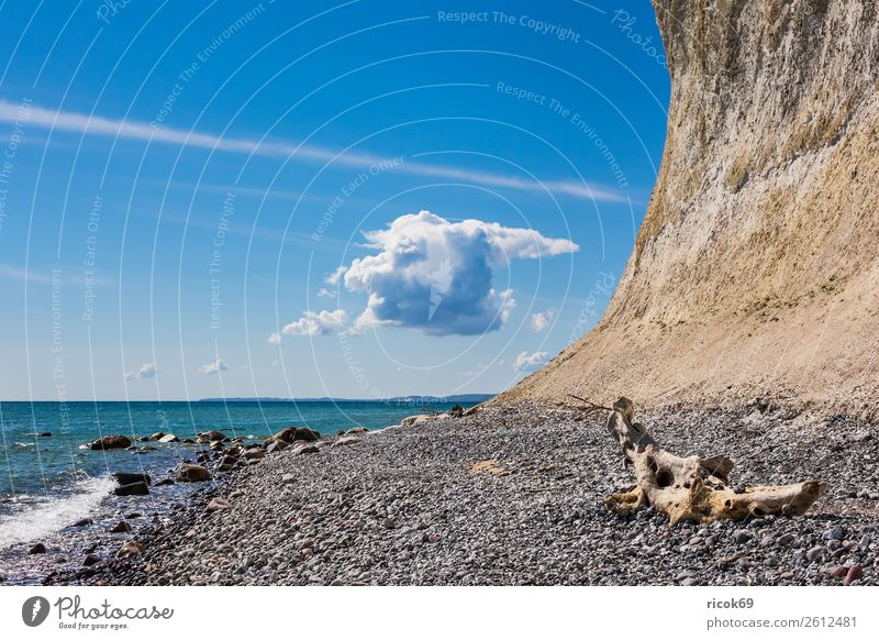 On the coast of the Baltic Sea on the island of Rügen Vacation & Travel Tourism Ocean Nature Landscape Clouds Rock Coast Tourist Attraction Stone Blue Romance