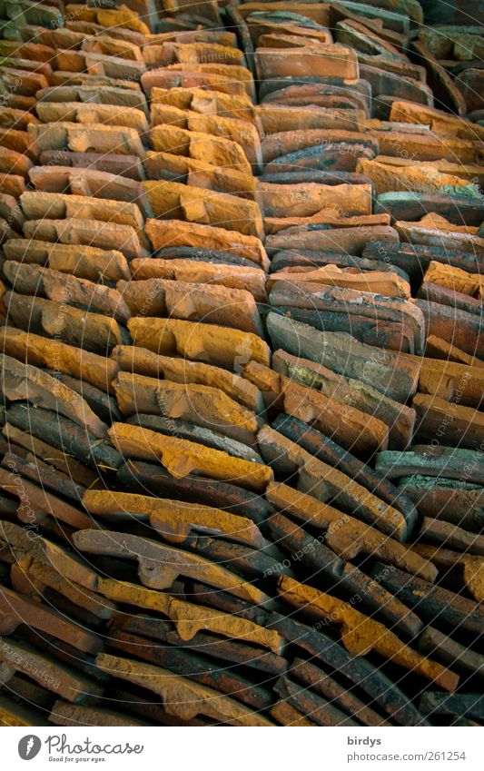 Old Arrangement Esthetic Many Row Craft (trade) Material Stack Storage System Roofing tile Roofer
