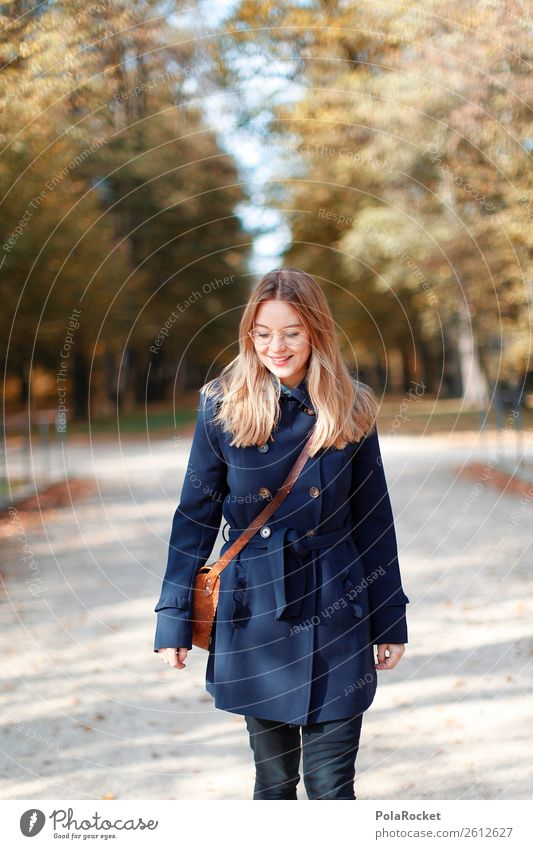 #A# Autumn sun Art Esthetic Seasons Coat Model Fashion Manikin Park Woman Autumnal Autumn leaves Autumnal colours Early fall Automn wood Autumnal weather