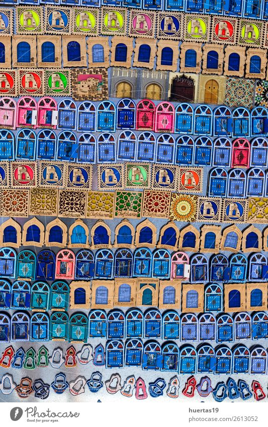 Chaouen the blue city of Morocco. Vacation & Travel Old Blue Architecture Building Tourism Shopping Village Downtown Store premises City Small Town Vertical
