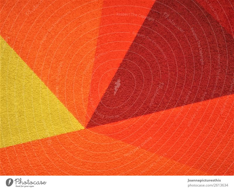 orange Design Art Sun Wall (barrier) Wall (building) Illuminate Warmth Yellow Orange Red Geometry Colour photo Abstract Pattern Structures and shapes