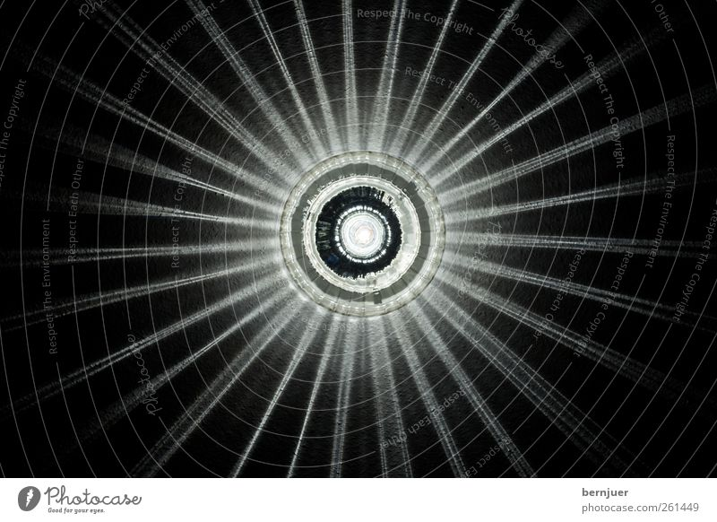 The rapture of St. Lucia Sculpture Architecture Wall (barrier) Wall (building) Ornament Esthetic Retro Black White Purity Loneliness Energy Lamp Ceiling light