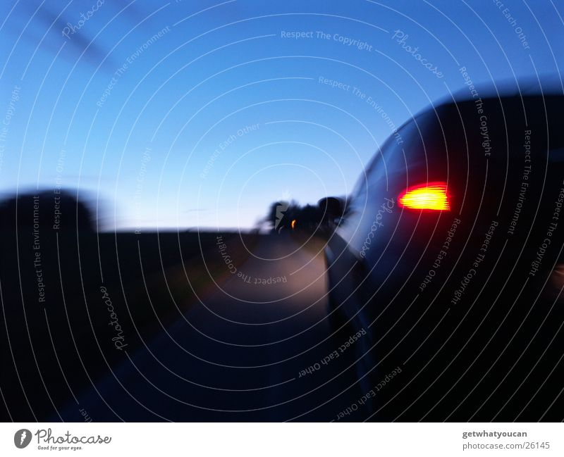 dynamism 147 Dark Twilight Horizon Speed Black Long exposure Light Stern Beautiful Tree Transport Car alfa romeo Evening Street Movement Italy Sky