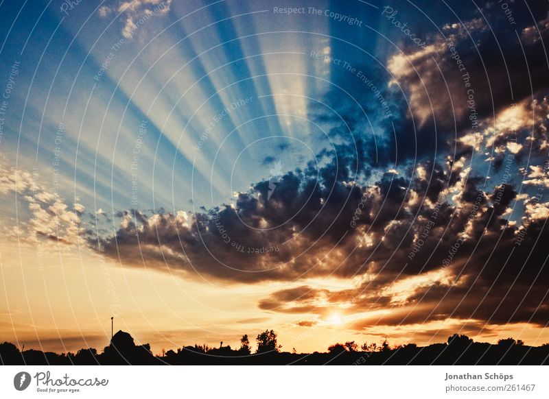 ... and radiates ... Elements Air Sky Clouds Horizon Sunrise Sunset Summer Emotions Contentment Uniqueness Apocalyptic sentiment Belief Religion and faith Hope