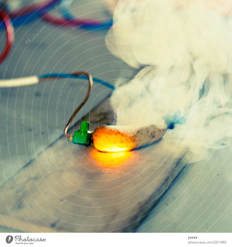 Blue White Red Yellow Energy Electricity Exceptional Crazy Illuminate Cable Threat Smoking Hot Contact Steel cable Science & Research