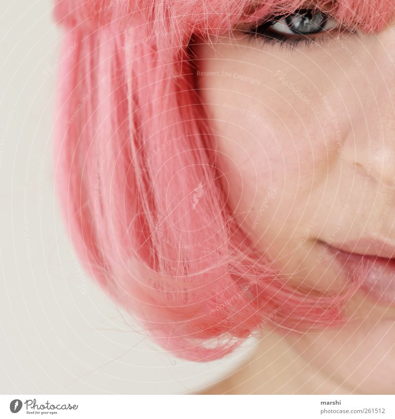 because I'm a girl... Style Joy Human being Feminine Young woman Youth (Young adults) Woman Adults Skin Head Hair and hairstyles Eyes Mouth 1 18 - 30 years Pink