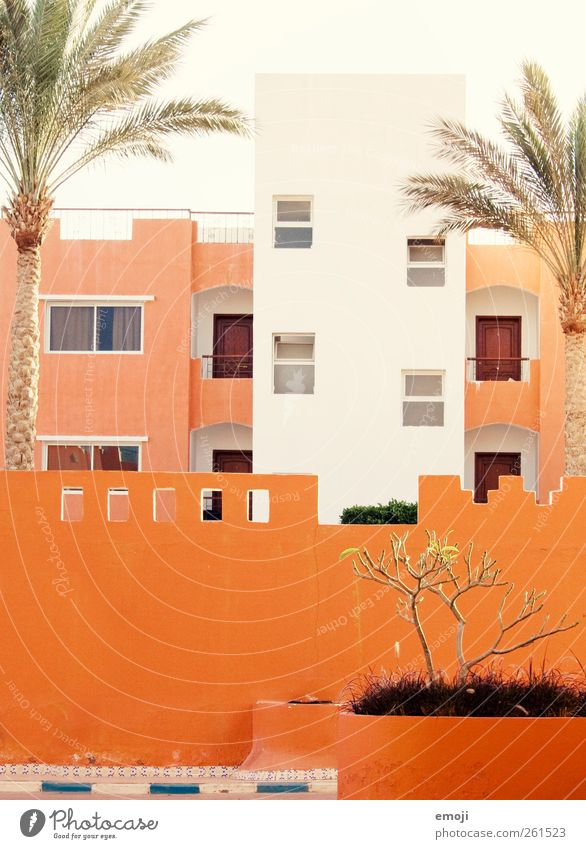 House (Residential Structure) Window Wall (building) Architecture Wall (barrier) Building Bright Orange Facade Manmade structures Hotel Mediterranean Resort