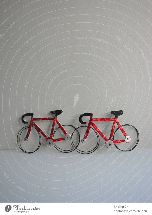 rest Leisure and hobbies Transport Means of transport Stand Wait Glittering Gray Red Black Emotions Moody Joy Mobility Break Sports Stagnating Racing cycle 2