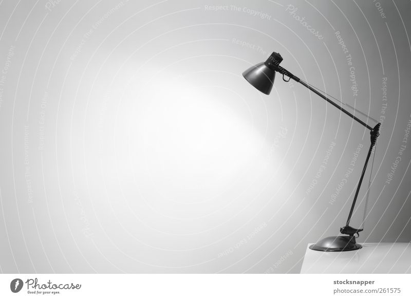 Light Table Electric Illuminate Lighting Wall (building) Neutral Background Copy Space Blank Deserted Object photography Illumination Light (Natural Phenomenon)
