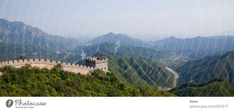 8851.8 kilometers Environment Nature Landscape Summer Beautiful weather Forest Hill Mountain China Asia Tower Manmade structures Building Wall (barrier)