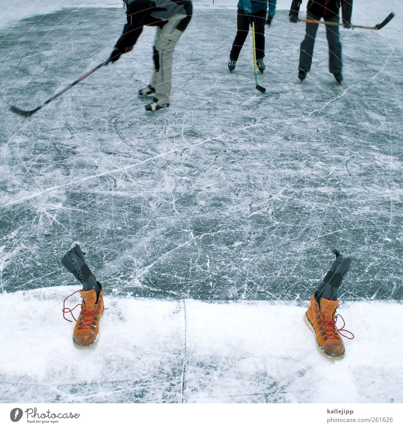 Human being Nature Winter Joy Environment Cold Sports Playing Lake Legs Feet Weather Ice Body Footwear Signs and labeling