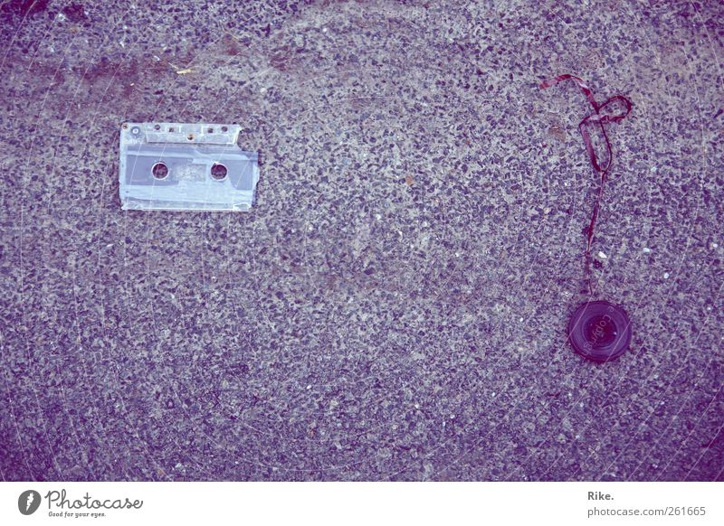 Old Calm Street Death Stone Music Art Beginning Broken Retro Transience End Violet Media Listening Whimsical