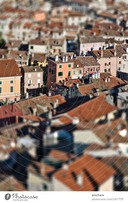 City House (Residential Structure) Small Downtown Tilt-Shift