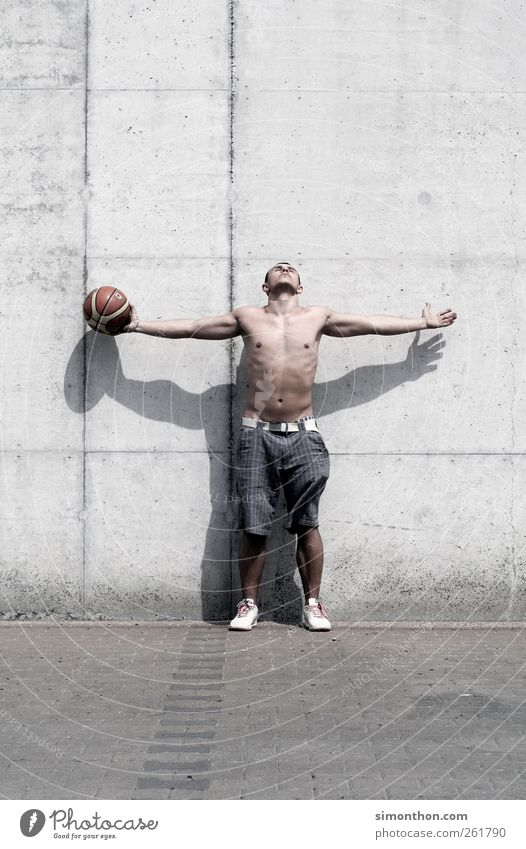 basketball player Sports Fitness Sports Training Ball sports Sportsperson Masculine Young man Youth (Young adults) Body 1 Human being 18 - 30 years Adults