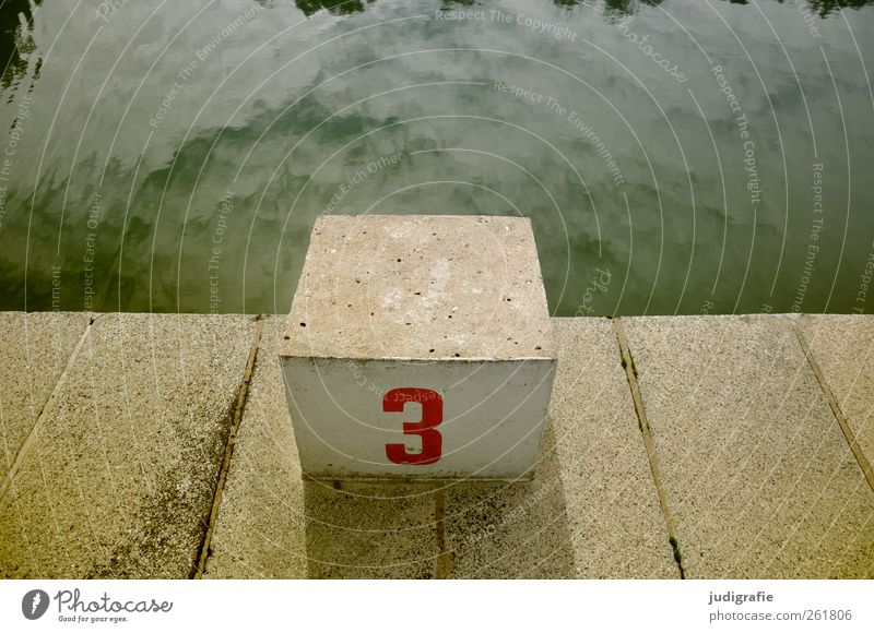 Three Water Sky Swimming pool Concrete Sign Digits and numbers Swimming & Bathing Sharp-edged Town Leisure and hobbies Sports summer pool 3