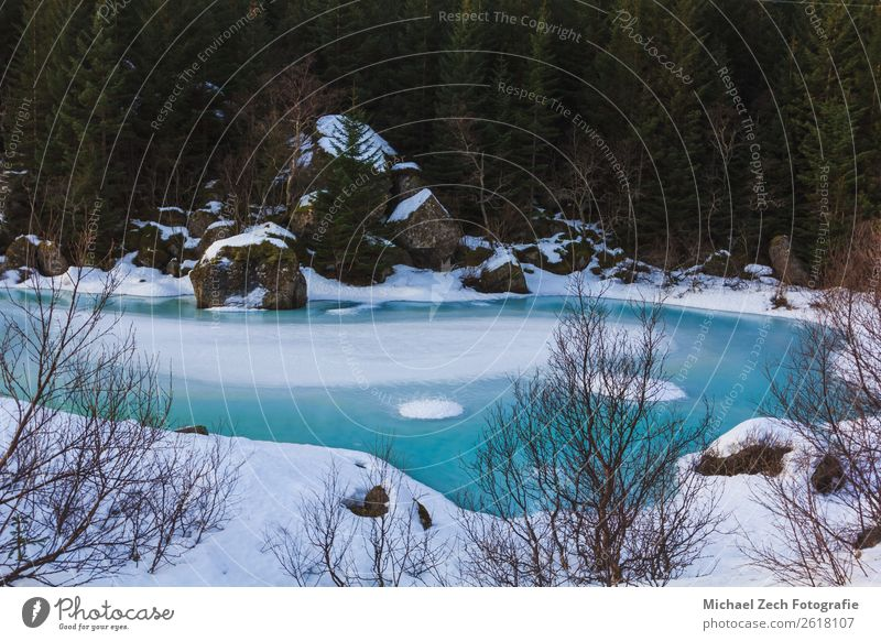 Aerial view of the winter frozen lake with blue ice Beautiful Ocean Winter Snow Nature Landscape Sky Climate Tree Park Forest Glacier Lake River Aircraft Above