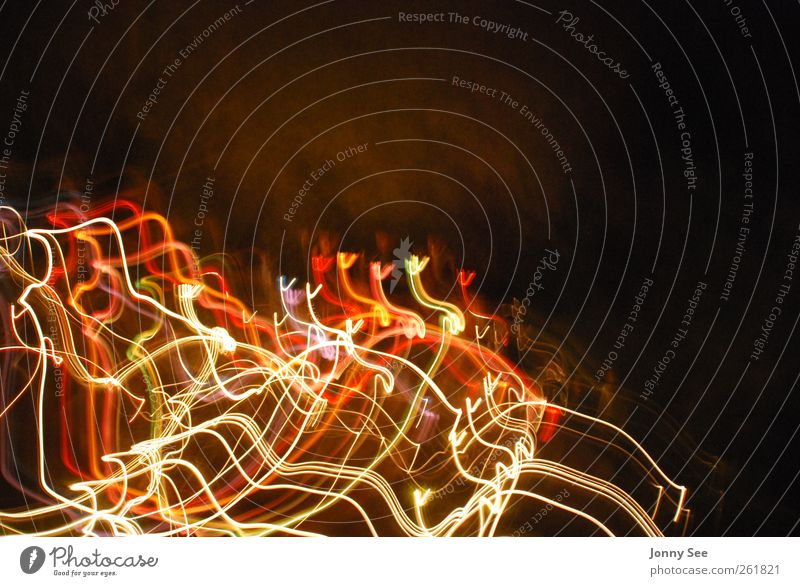 light dance Style Design Night life Movement Exceptional Modern Multicoloured Joy Life Colour photo Macro (Extreme close-up) Copy Space top Long exposure Blur