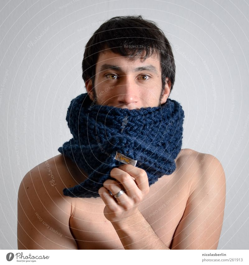 A real una. Design Beautiful Body Skin Face Masculine Young man Youth (Young adults) 1 Human being 18 - 30 years Adults Fashion Accessory Ring Scarf Brunette