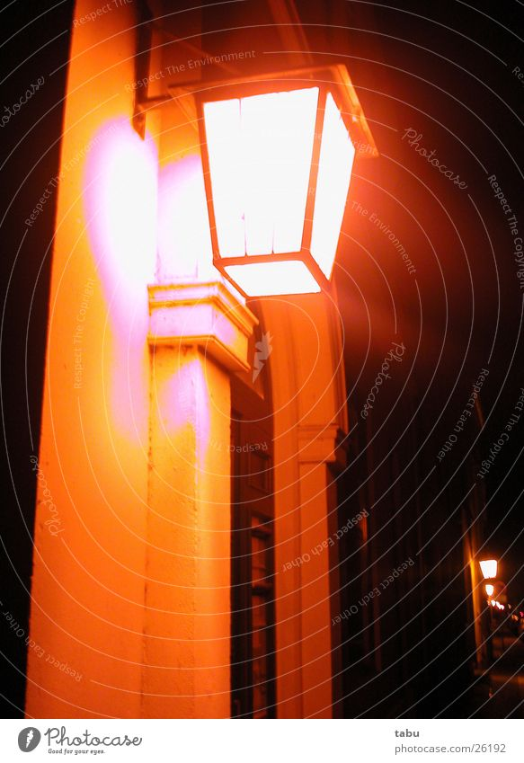 NUMBER 53 Lamp House (Residential Structure) Night Black Historic Orange Architecture