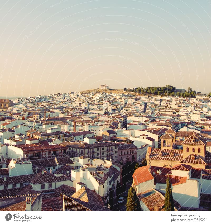 White City Vacation & Travel House (Residential Structure) Tourism Hill Village Vantage point Spain Dusk Downtown Old town Mediterranean Town Andalucia