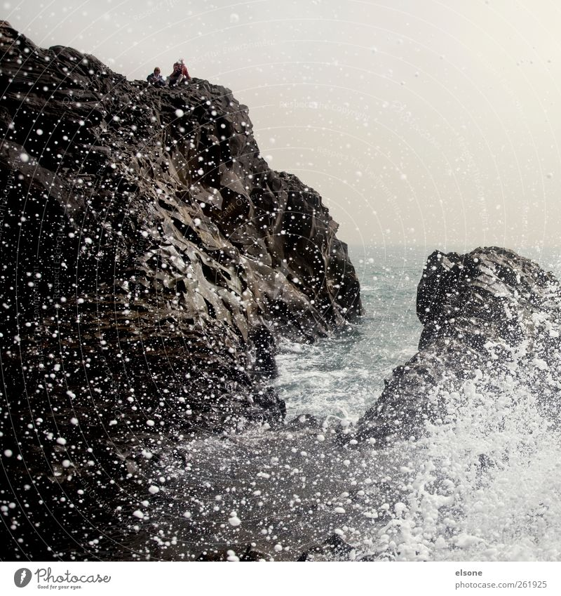 /W A VE Landscape Water Drops of water Horizon Weather Wind Gale Rock Waves Coast Bay Reef Ocean Wet Iceland Exterior shot