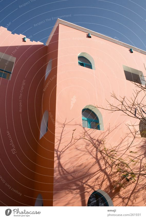 Mediterranean House (Residential Structure) Manmade structures Building Wall (barrier) Wall (building) Facade Window Warmth Orange Colour photo Exterior shot