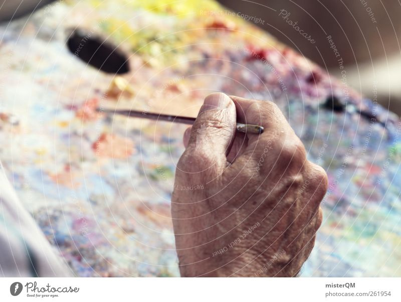 Hand Senior citizen Dye Art Work and employment Esthetic Break Painting (action, artwork) Creativity Painting and drawing (object) Draw Cozy Artist Inspiration