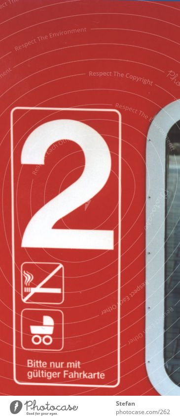 """2"" Red Railroad Signs and labeling"