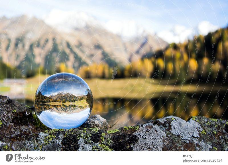 Nature Landscape Autumn Exceptional Lake Illuminate Dream Harmonious Kitsch Purity Mountain lake Glass ball