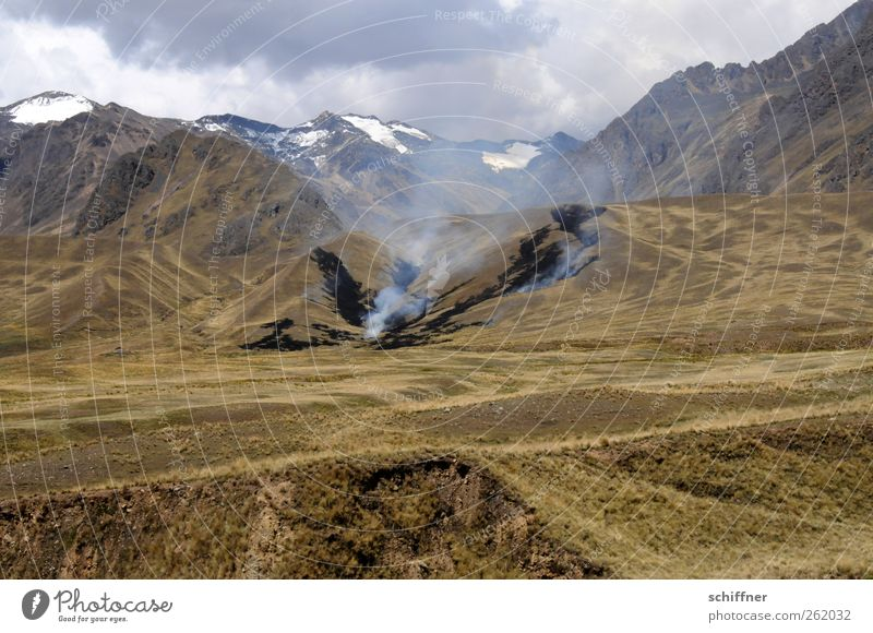Nature Clouds Environment Landscape Mountain Rock Blaze Hill Dry Peak Smoke Burn Destruction Bleak Snowcapped peak Recklessness