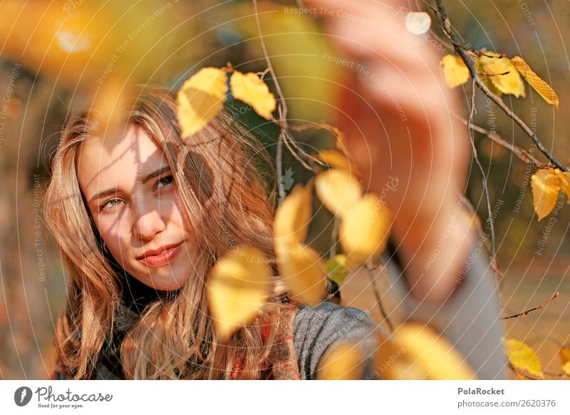 #A# Autumn light 1 Human being Esthetic Autumn leaves Autumnal Autumnal colours Early fall Automn wood Autumnal weather Autumnal landscape Model Manikin Looking