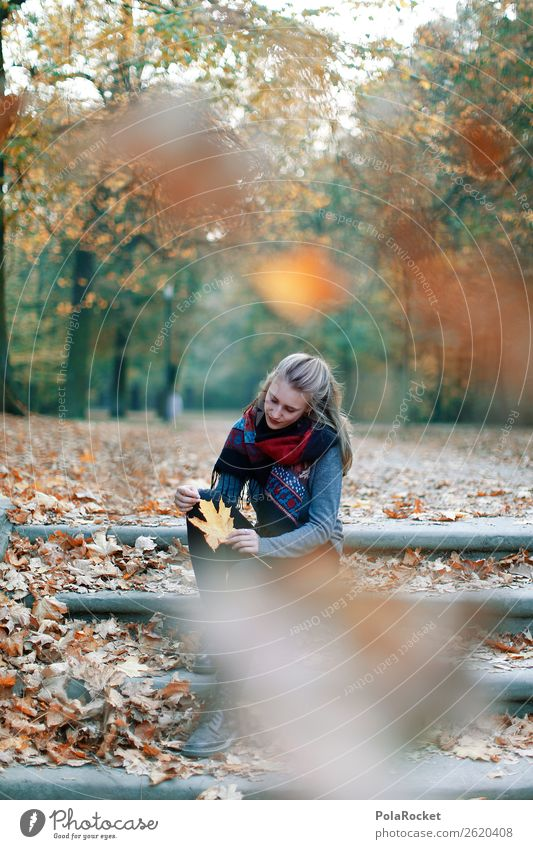 #A# Autumn rain Feminine 1 Human being Art Esthetic Woman Autumn leaves Autumnal Autumnal colours Early fall Automn wood Autumnal weather Autumn wind Leaf