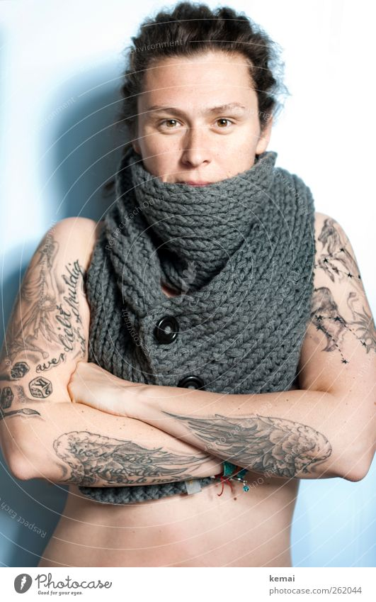Another real una. Lifestyle Beautiful Human being Feminine Woman Adults Body Skin Head Face Eyes Nose 1 30 - 45 years Tattoo Winter Accessory Scarf Authentic