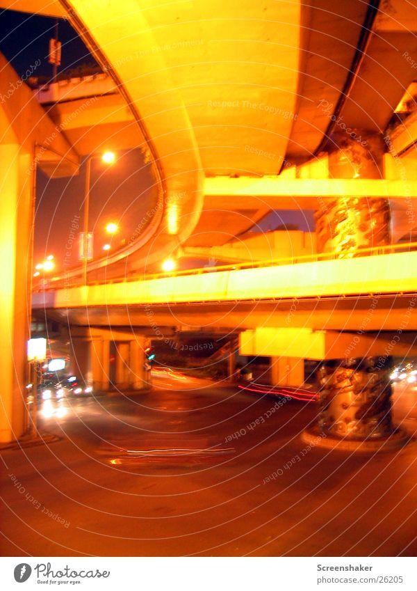 Dragons Pole II Shanghai Transport Night Column Los Angeles viaduct Bridge Buddha