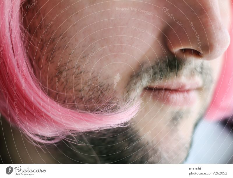 the woman in the man Style Human being Masculine Feminine Young woman Youth (Young adults) Young man Man Adults Skin Hair and hairstyles Face Facial hair Pink