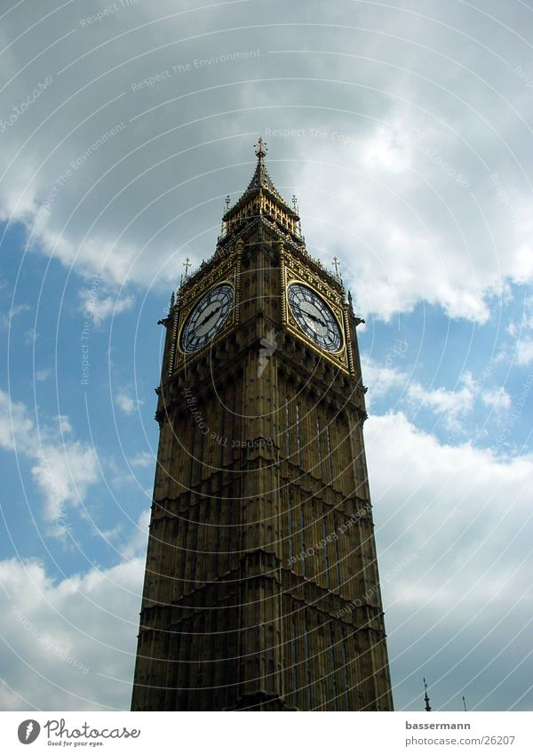 Sky Clouds Architecture Europe London England Capital city Big Ben Westminster Abbey