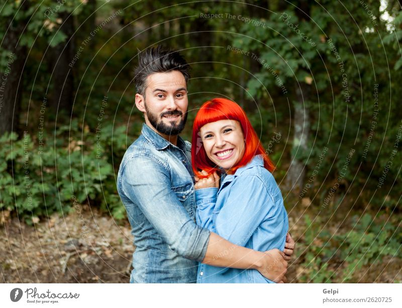 Young couple of lovers Woman Vacation & Travel Nature Man Summer Beautiful Landscape Lifestyle Adults Love Family & Relations Happy Style Couple Fashion
