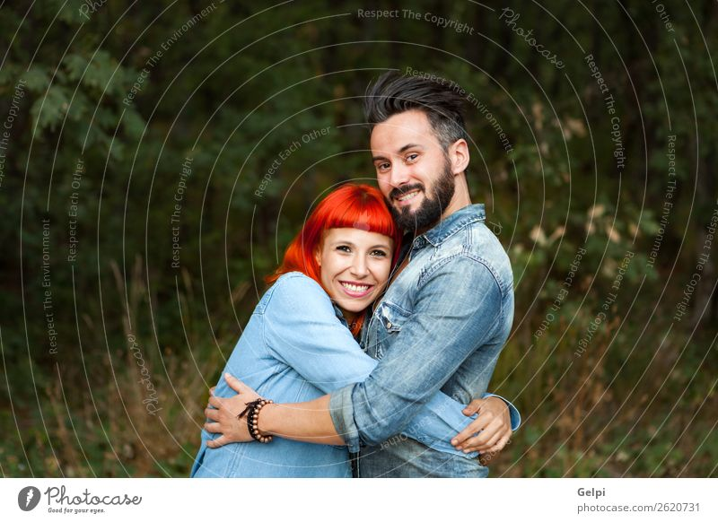 Young couple of lovers Lifestyle Style Happy Beautiful Leisure and hobbies Vacation & Travel Summer Woman Adults Man Family & Relations Couple Nature Landscape