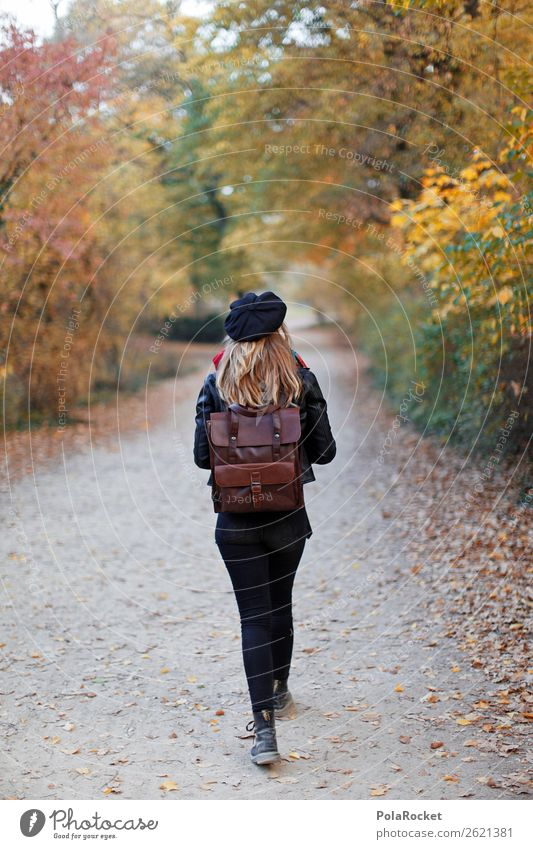 #A# Through autumn Art Esthetic Woman Hiking To go for a walk Forest Autumn Park Autumn leaves Autumnal Early fall Automn wood Autumnal weather