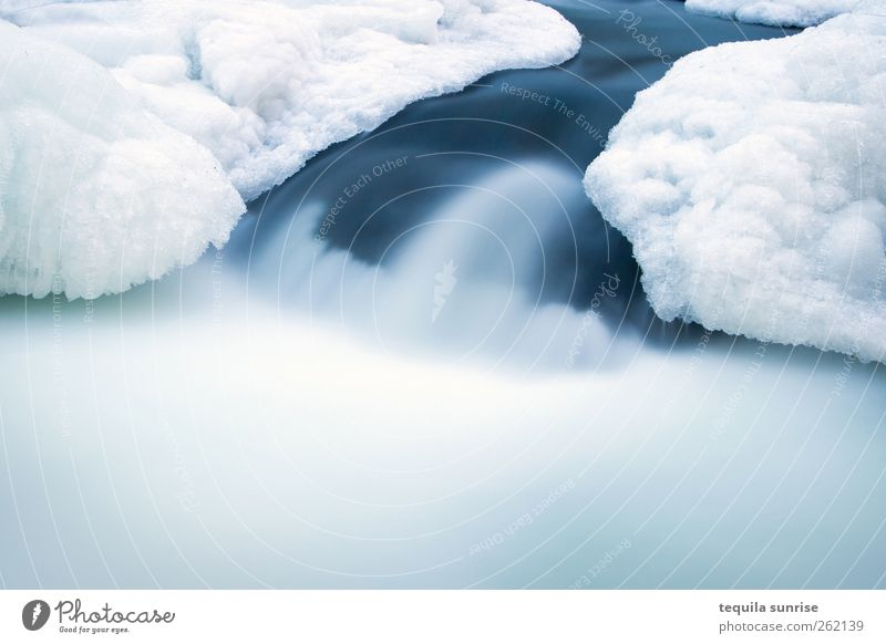 WinterBach Environment Nature Elements Water Climate Ice Frost Snow Glacier Waves River bank Waterfall Rapid Freeze Cold Wet Blue White Flow Frozen The Arctic