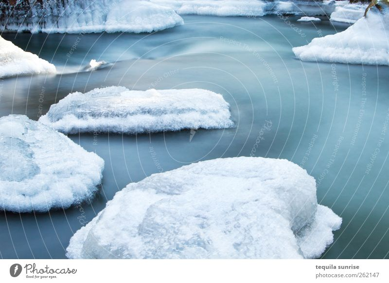 Winterbach II Environment Nature Landscape Elements Climate Ice Frost Snow Glacier Waves River bank Island Pond Lake Cold Wet Blue White Frozen The Arctic