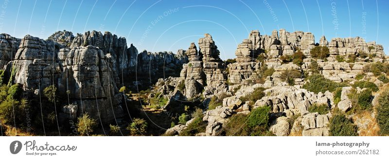 Nature Vacation & Travel Environment Landscape Mountain Gray Rock Adventure Tourism Elements Climbing Whimsical Spain Tourist Attraction Cloudless sky