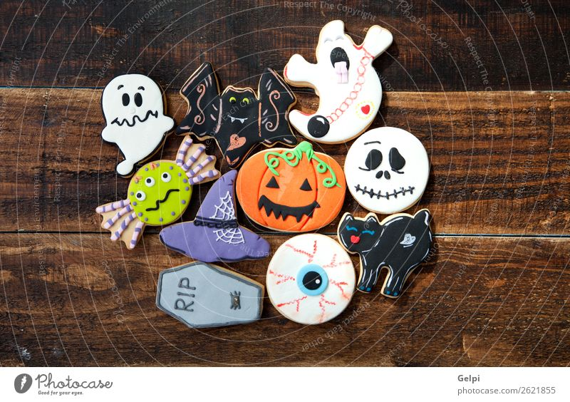 Happy Halloween Cat White Joy Black Autumn Feasts & Celebrations Decoration Fear Delicious Dessert Home Ghosts & Spectres  Snack Sugar Hallowe'en Baking