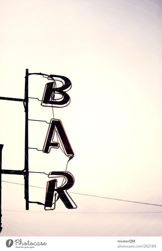 BAR me up. Art Esthetic Bar Barcelona Loose change Advertising Advertising Industry Roadhouse Light Caribbean Caribbean Sea Beverage Colour photo Subdued colour