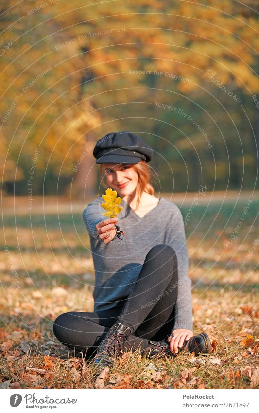 #A# Autumn smile 1 Human being Art Esthetic Leaf Autumnal Autumn leaves Autumnal colours Early fall Automn wood Autumnal weather Autumn wind Maple tree Park